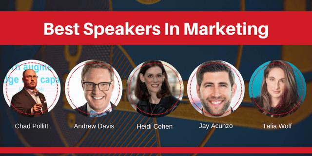 best speakers in marketing