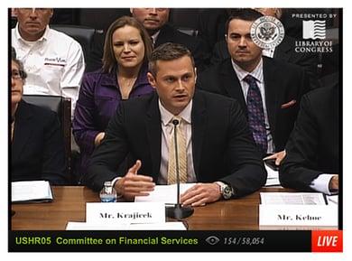 Kasasa CEO Gabe Krajicek testifying before Congressional hearing on financial literacy