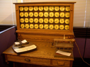 Big data isn't new. 1880s Census Bureau Hollerith Tabulating Machine