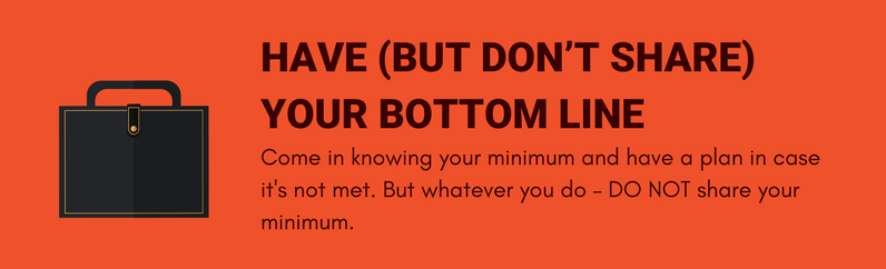 Have (but don't share) your bottom line