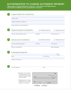 switching accounts automatic payment form