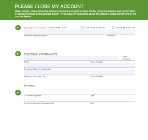 switching banks close my account form