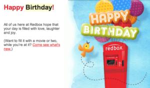 Redbox uses marketing automation to reward customers on their birthday