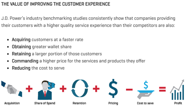 The value of improving the customer experience