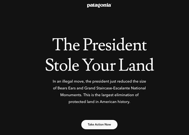 Patagonia revamps their website to align with their CSR campagin.