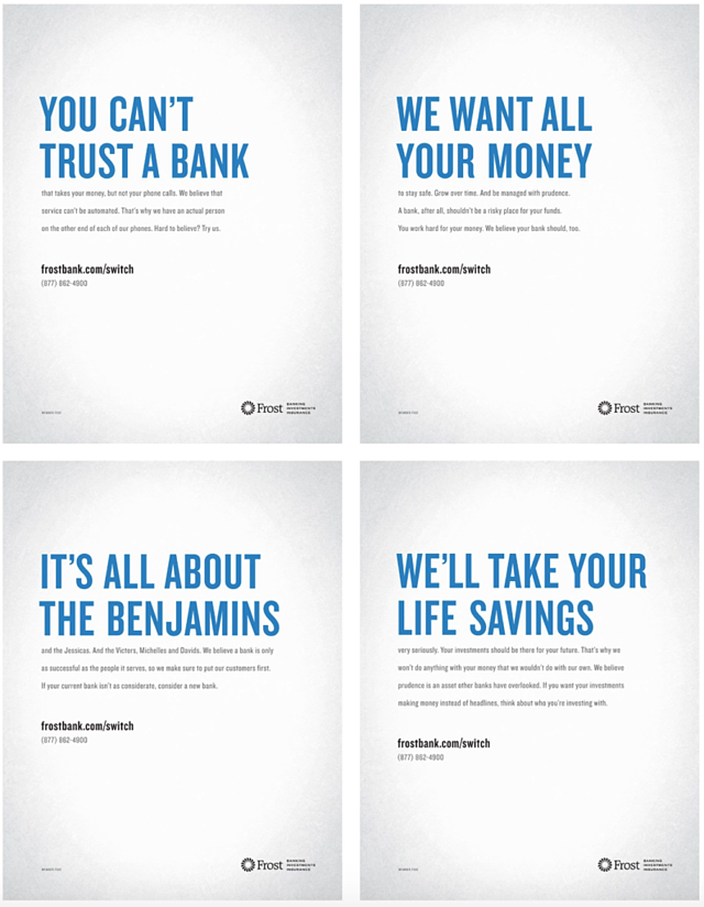 frost bank advertisements