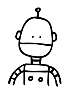 cartoon robot drawing