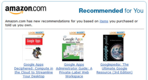 Amazon uses marketing automation to recommend add on purchases