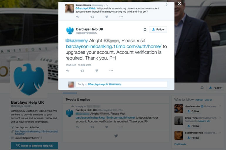 A fake twitter for a bank shows why you need to have a listening strategy in your social media compliance audit.