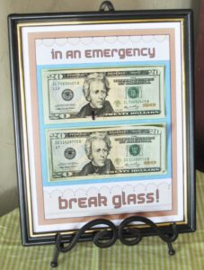 creative way to give money break in case of emergency