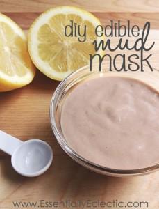 "DIY Edible ""Mud"" Mask via Essentially Eclectic"