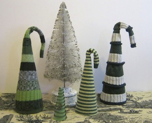Recycled Sweater Trees by Sweater Surgery