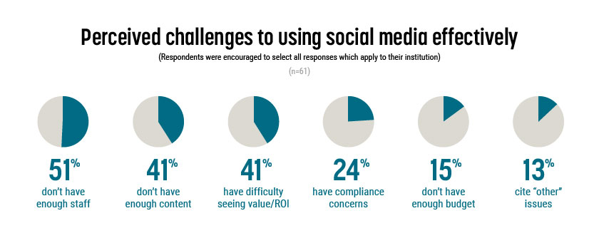 Social media pain points, perceived challenges