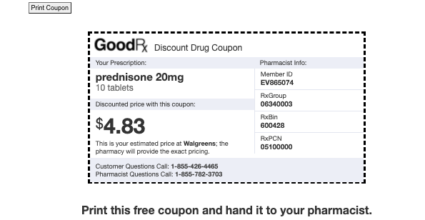 A goodrx coupon from Kasasa Care