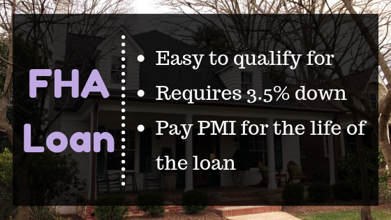 FHA loans are easier to qualify for but require you to pay insurance for the life of the loan.