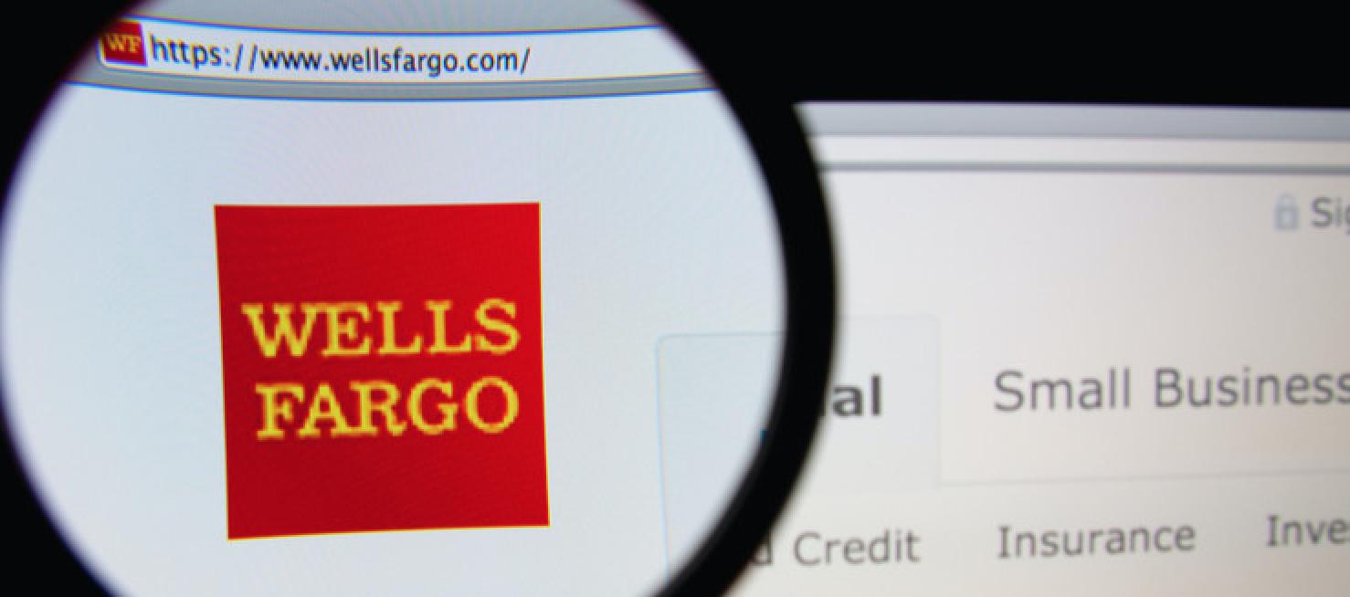 wells fargo website screenshot