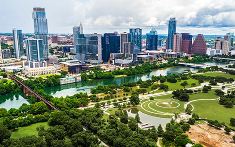 Austin city skyline